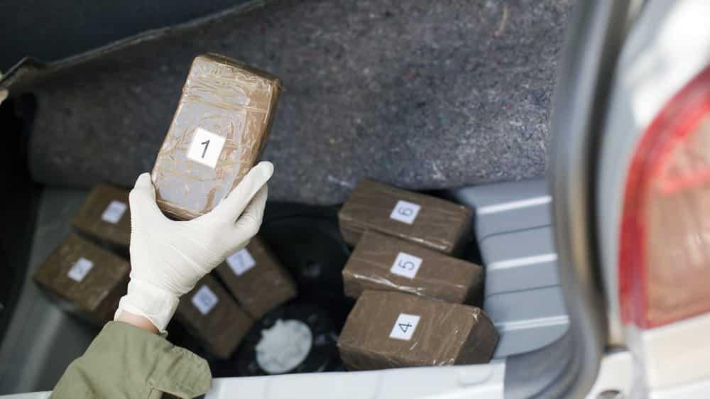apreensão de drogas em porta-malas de carro. combate às drogas tem falhado