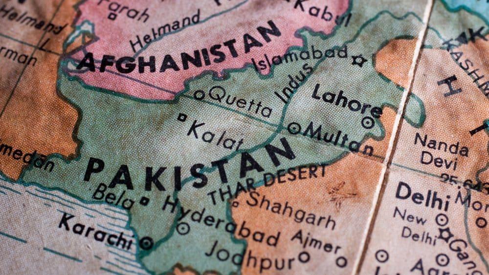 mapa mostrando Afeganistão e Paquistão, onde houve campanha de vacinação falsa