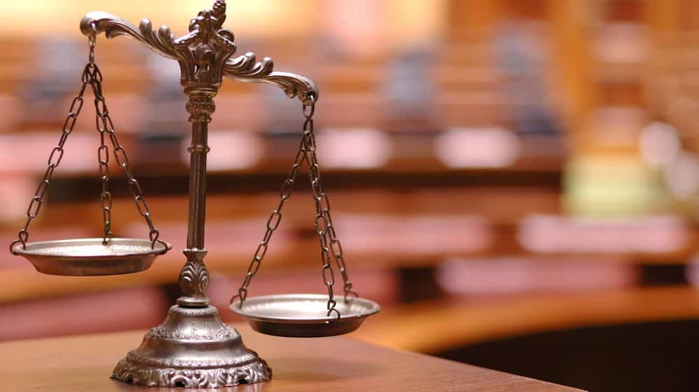 balança simbolizando a Justiça brasileira