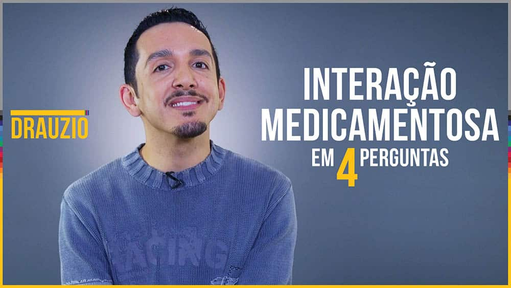 Thumbnail com o farmacêutico Leandro Paez, que respondeu a dúvidas sobre interação medicamentosa.
