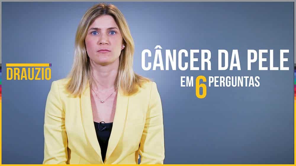 """Thumbnail do quadro """"Em X Perguntas"""" com a dermatologista Jade Cury Martins sobre câncer de pele."""