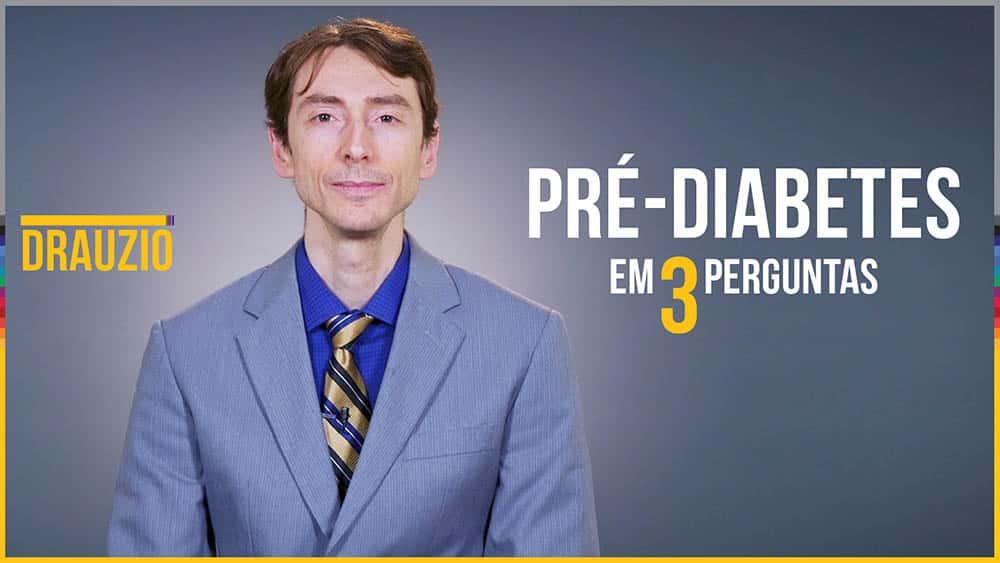 """Thumbnail com médico e o texto """"Pré-diabetes em 3 perguntas""""."""