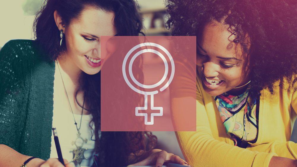 mulheres jovens e símbolo das mulheres. educação sexual é importante para reduzir vulnerabilidades