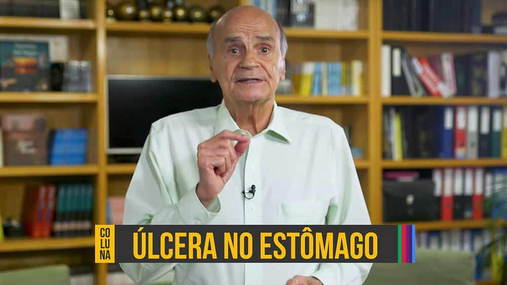 """Dr. Drauzio Varella e abaixo o texto """"úlcera no estômago""""."""