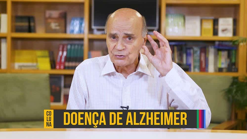 """Dr. Drauzio e, abaixo, o texto """"doença de Alzheimer""""."""