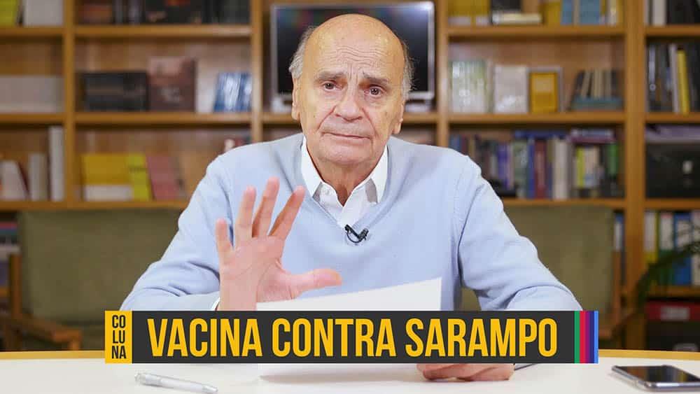 "Dr. Drauzio e, abaixo, o texto ""vacina contra sarampo""."
