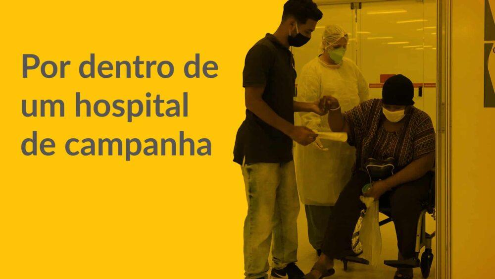 Veja a rotina dos profissionais de saúde no Hospital de Campanha do Anhembi.